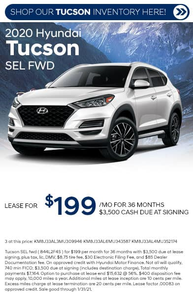 2020 hyundai tucson special offers card