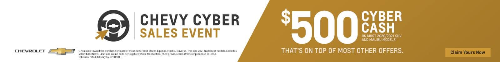 01_2020_NOVEMBER_ 500 CYBER CASH GENERIC_NATIONAL_1600x200 BANNER