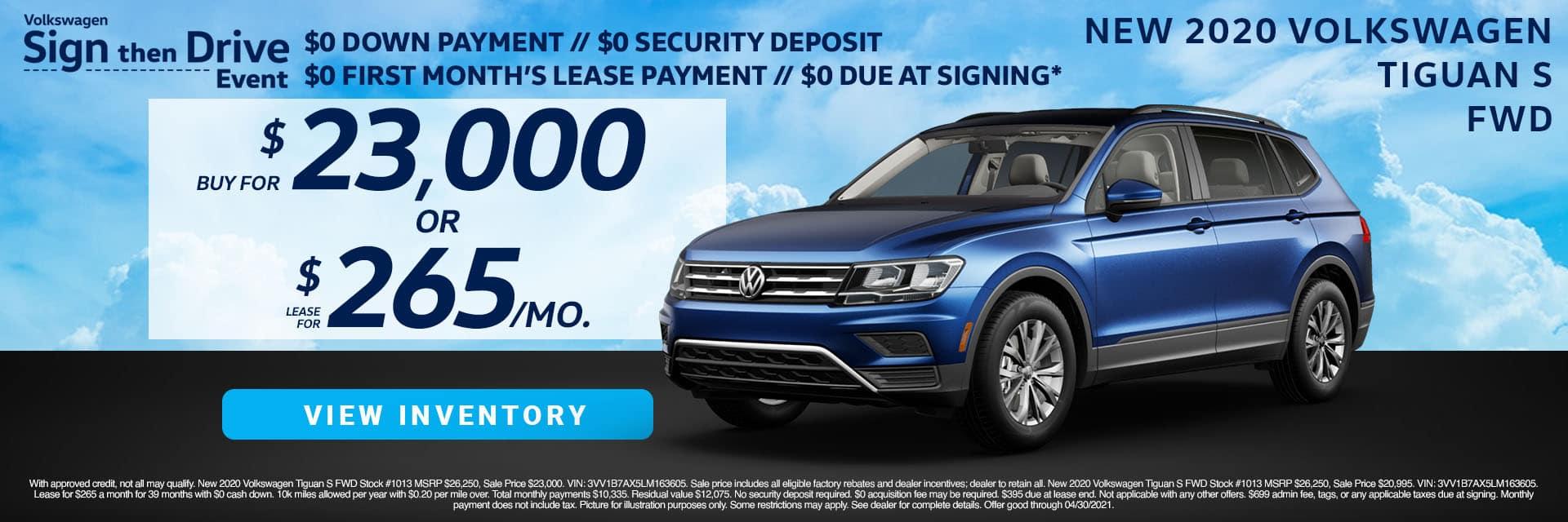 CVWG-April 202120s20 Volkswagen Tiguan