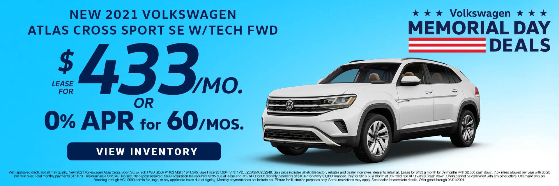 CVWG-May 20212020 Volkwagen Atlas Cross Sport