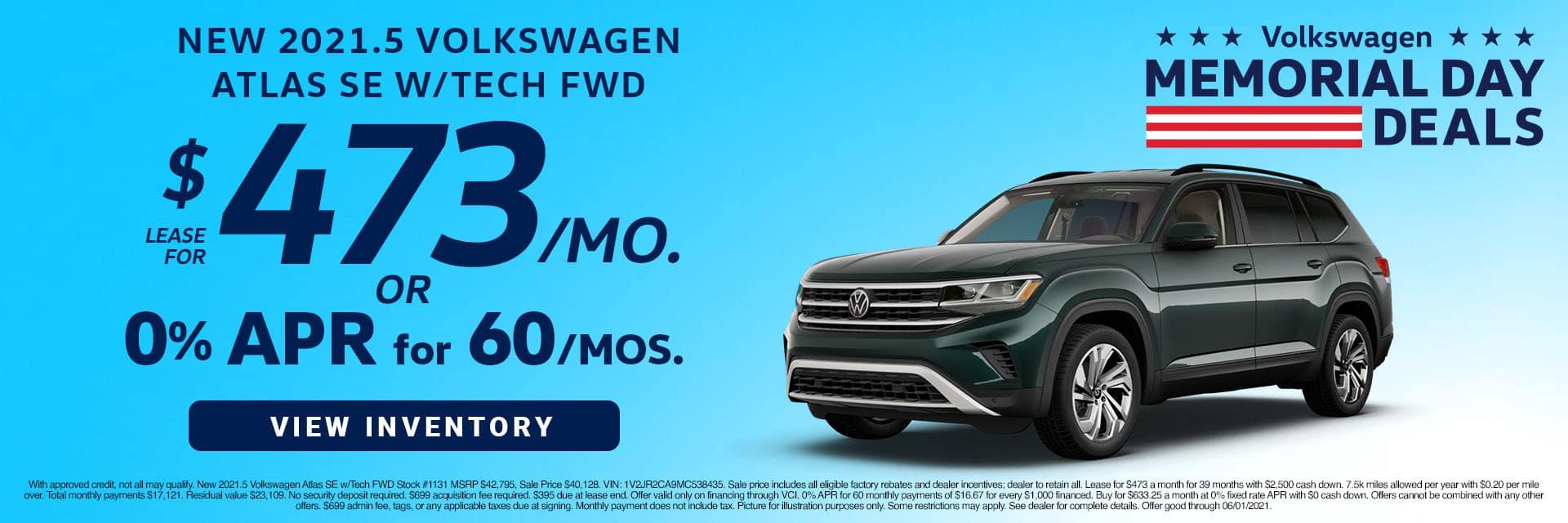 CVWG-May 20212021 Volkswagen Atlas