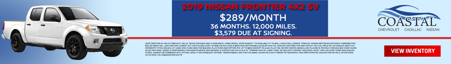July Nissan Frontier Special Offer