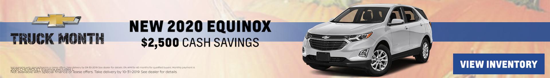 2019 Chevy Equinox October Special Offer