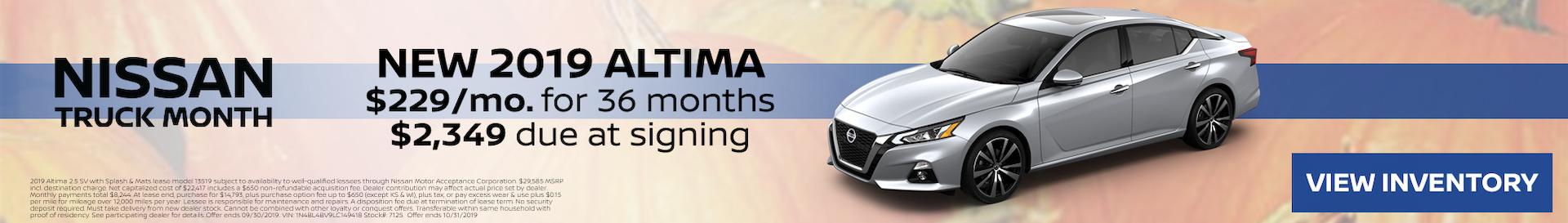 2019 Altima October Special Offer