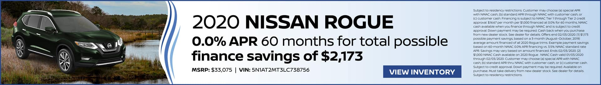 January Offer on 2020 Nissan Rogue