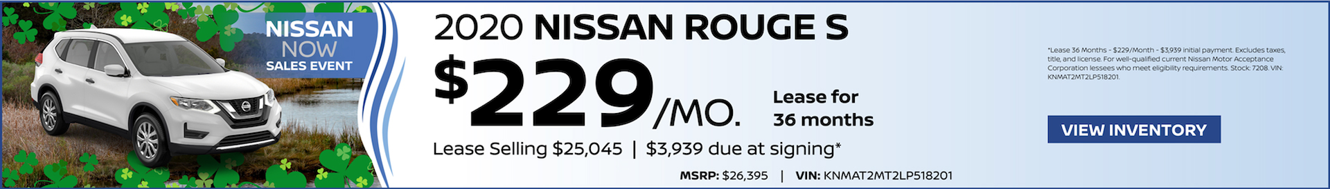 March Nissan Rogue S Lease Offer
