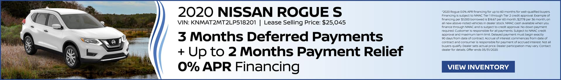 Coastal Saves Nissan Rogue 3 Months Deferred Payments + Up to 2 Months Payment Relief