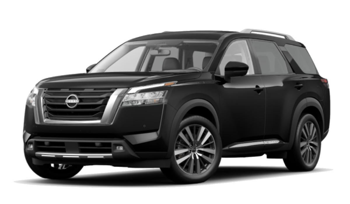 2022 Pathfinder Platinum in black.