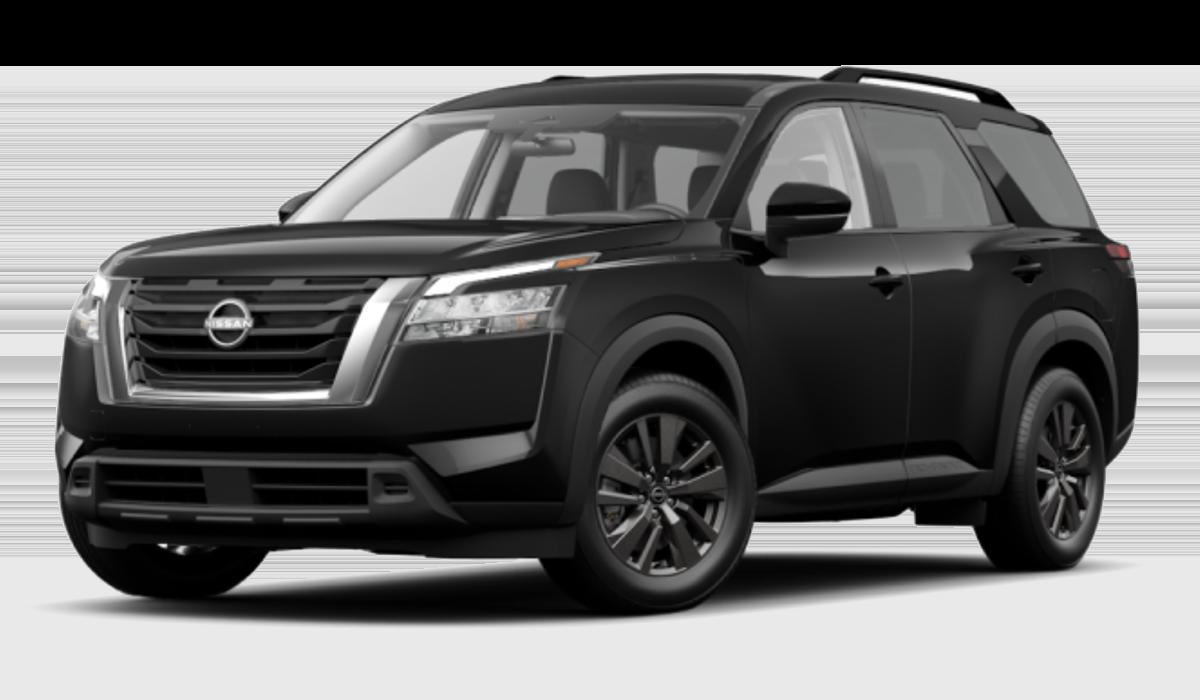 2022 Pathfinder SV in black.