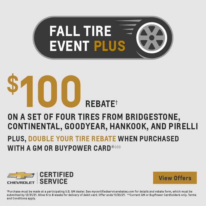 Chevy Fall Tire Event Plus | Coastal Chevy