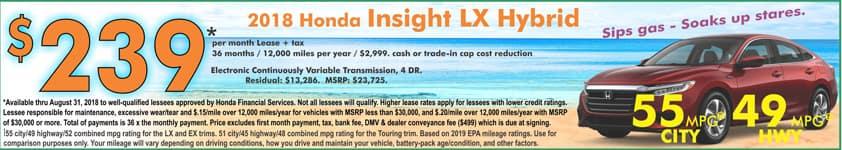CR_homepage slider, Hybrid 2018 Insight lease