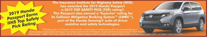 Honda Passport Safety