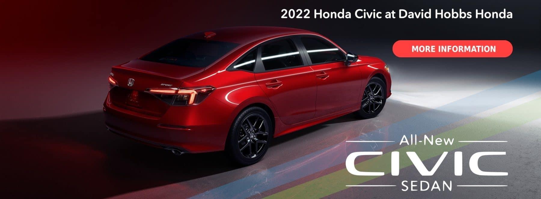 2022 Honda Civic at David Hobbs Honda