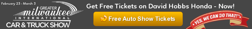 Get free Auto Show tickets courtesy of David Hobbs Honda