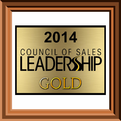 Coucil of Sales 2014 Award Glendale, WI