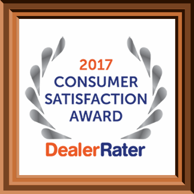2017 DealerRater Consumer Satisfaction Award