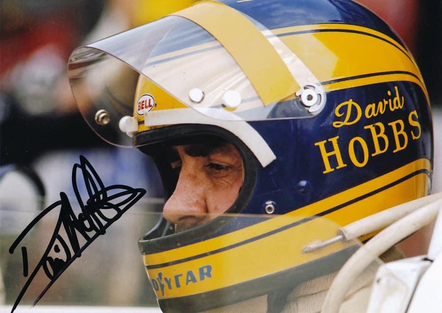 David Hobbs Wearing Helmet