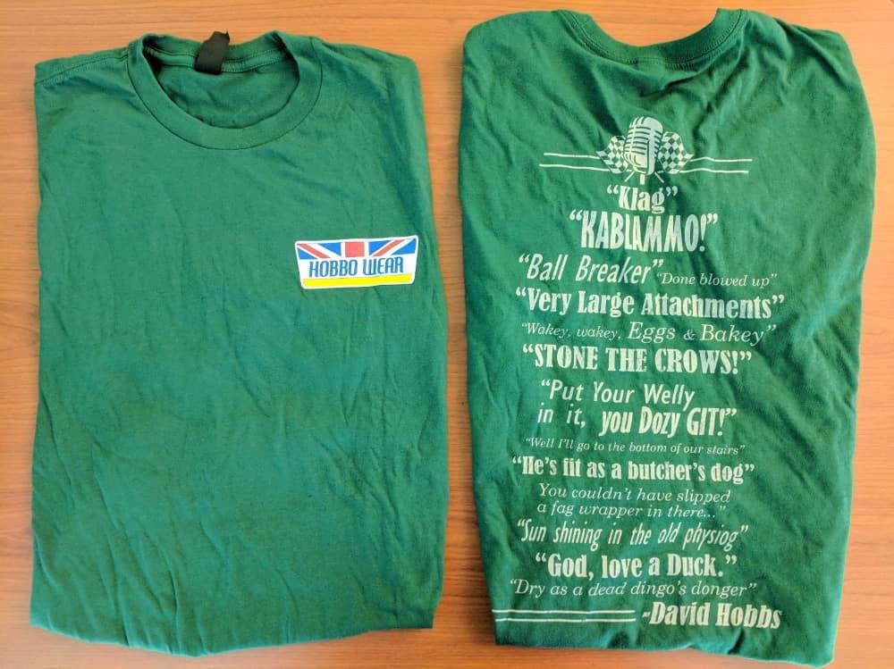 David Hobbs Phrases Collectible Green T-shirt