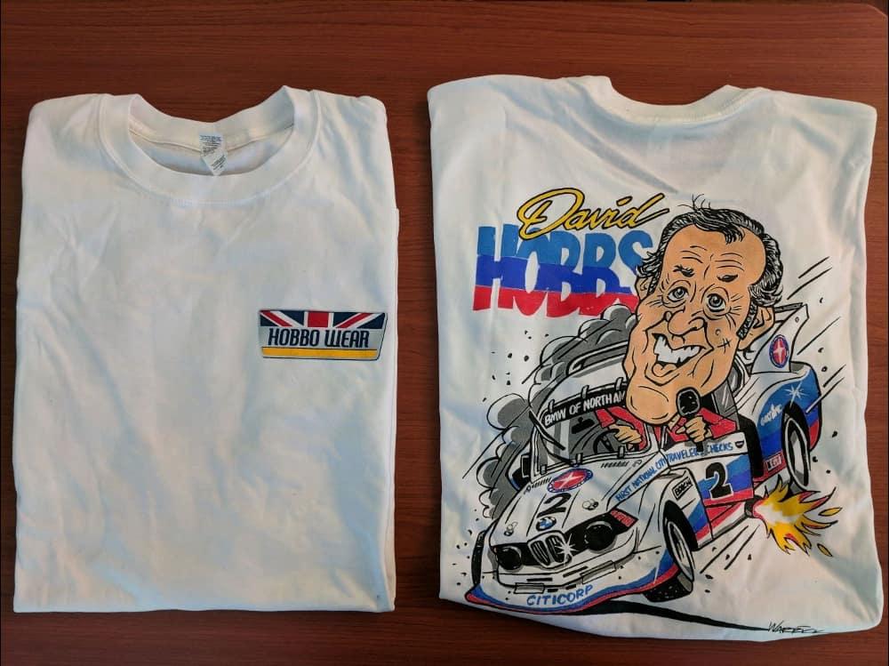 David Hobbs White Collectible T-Shirt
