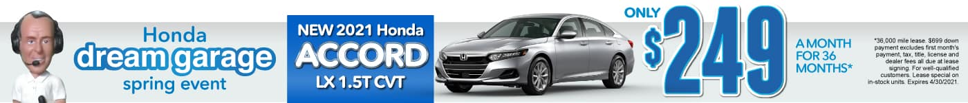 New 2021 Honda Accord - Only $249 a month - Act Now