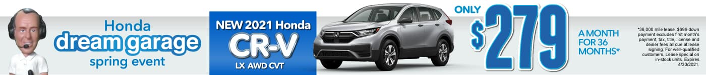 New 2021 Honda CR-V - Only $279 a month - Act Now