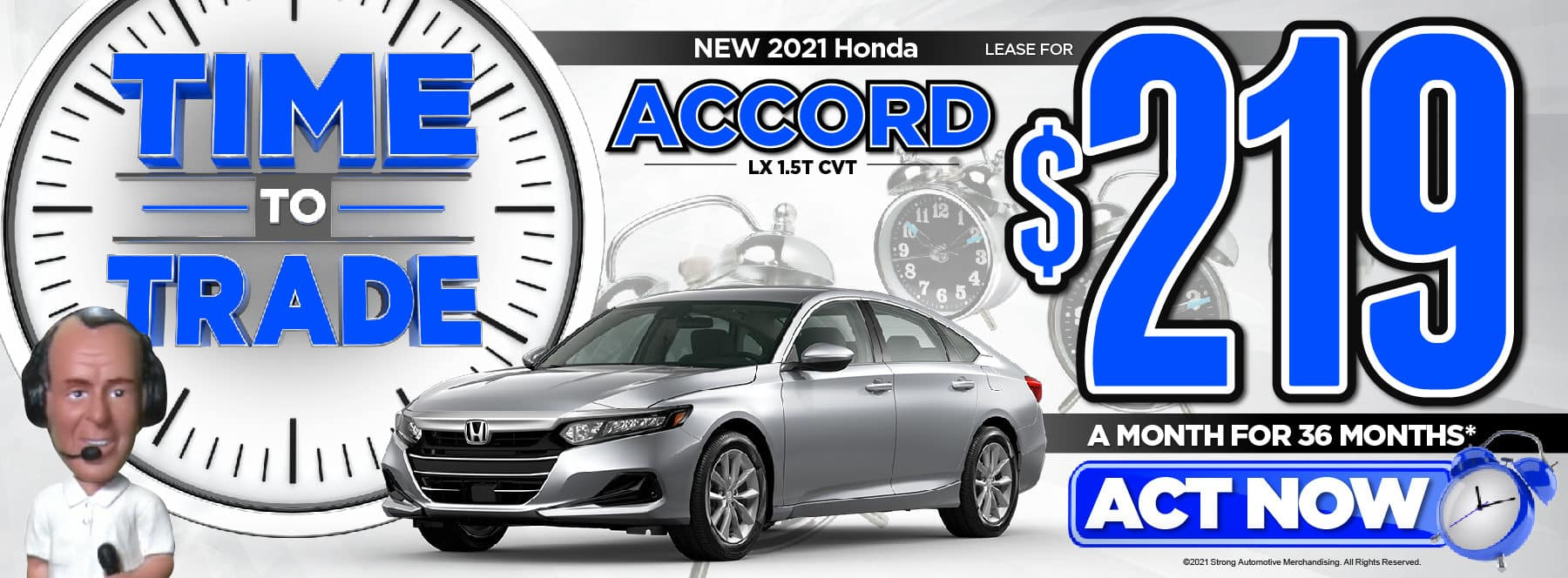 New 2021 Honda Accord LX Lease for $219/Mo* Act Now