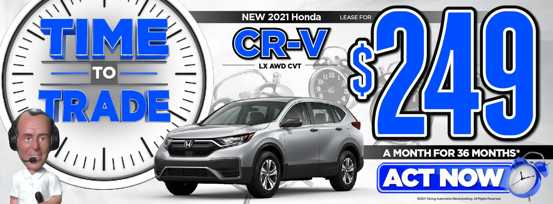 New 2021 Honda CR-V LX Lease for $249/Mo* Act Now