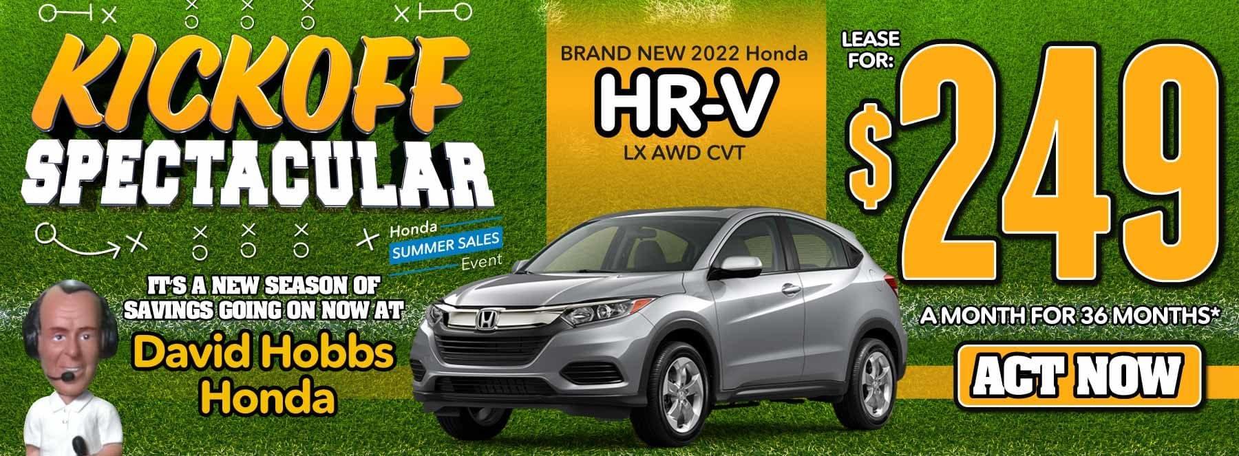 Brand New 2022 Honda HR-V LX AWD CVT - Lease for $249 for 36 Mos. — ACT NOW