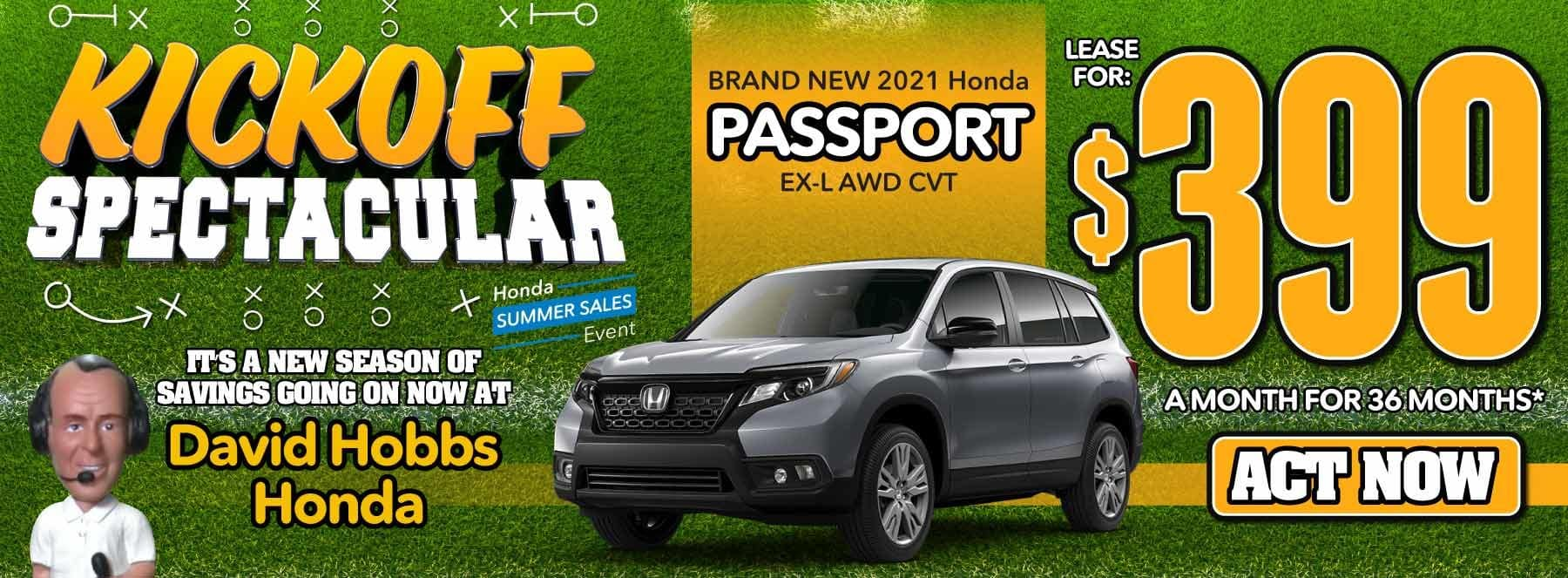 Brand New 2021 Honda Passport EX-L AWD CVT - Lease for $399 for 36 Mos. — ACT NOW