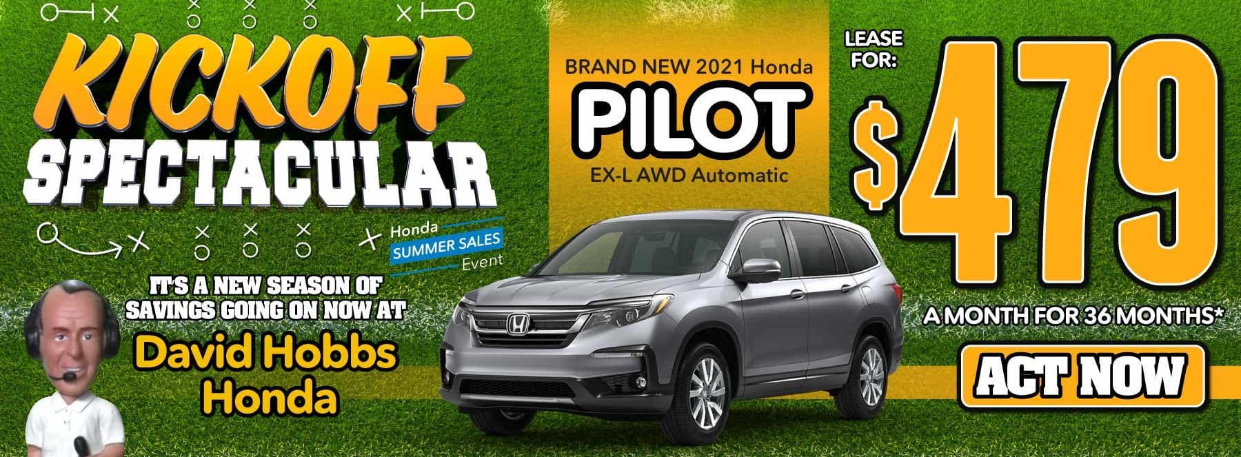 Brand New 2021 Honda Pilot EX-L AWD Automatic - Lease for $479 for 36 Mos. — ACT NOW