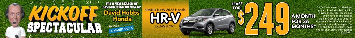 Brand New 2022 Honda HR-V LX AWD CVT - Lease for $249 for 36 Mos.