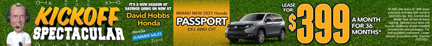 Brand New 2021 Honda Passport EX-L AWD CVT - Lease for $399 for 36 Mos.