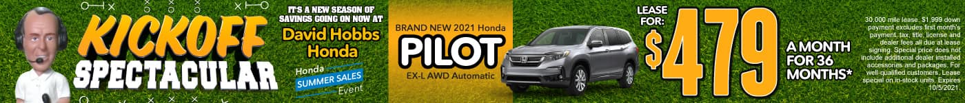 Brand New 2021 Honda Pilot EX-L AWD Automatic - Lease for $479 for 36 Mos.