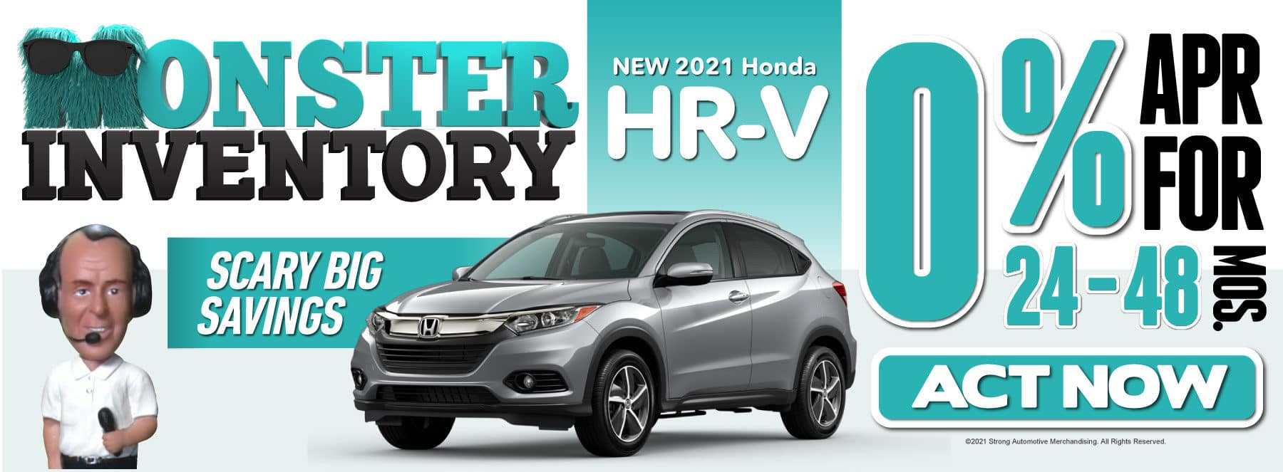 New 2021 Honda HR-V- 0% APR for 24-48 Months — ACT NOW