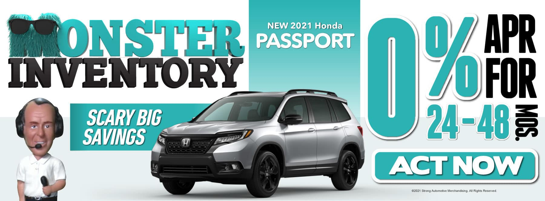 New 2021 Honda Passport - 0% APR for 24-48 Months — ACT NOW