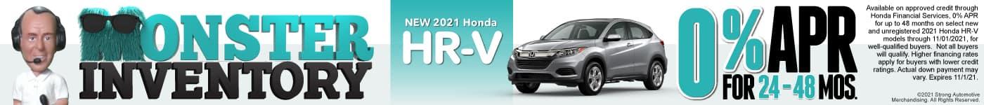 New 2021 Honda HR-V- 0% APR for 24-48 Months