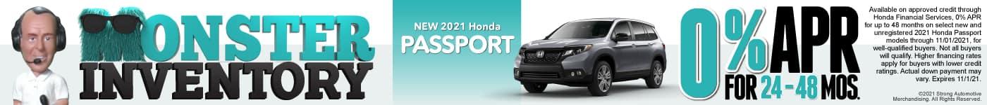 New 2021 Honda Passport - 0% APR for 24-48 Months