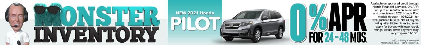 New 2021 Honda Pilot - 0% APR for 24-48 Months