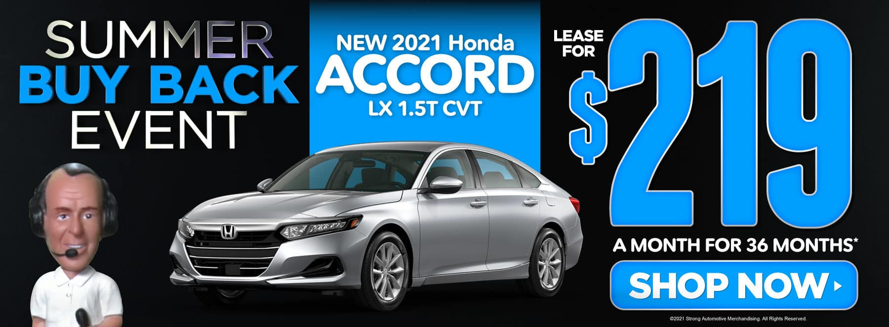 New 2021 Honda Accord - Lease for $219 a month - Shop Now