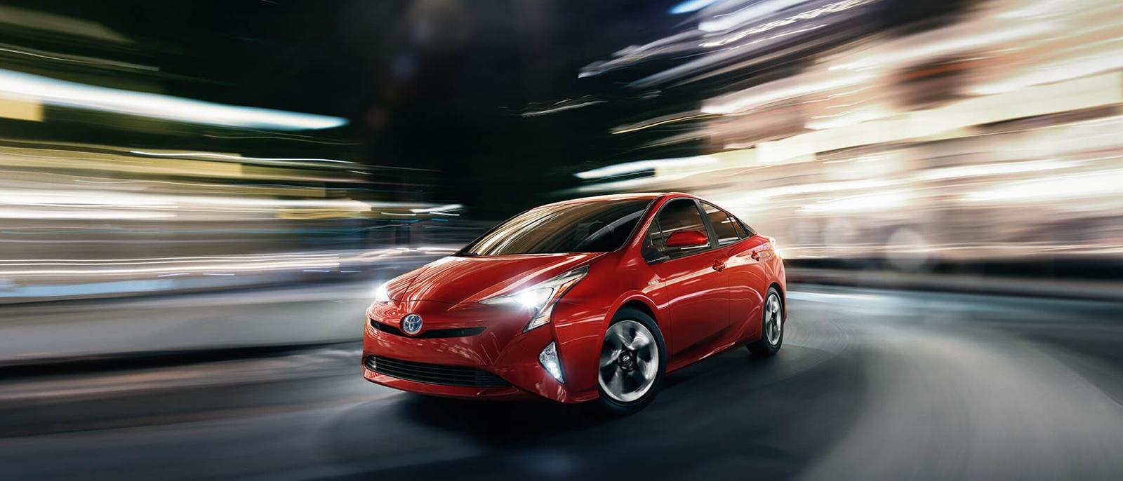 2016 Toyota Prius red exterior
