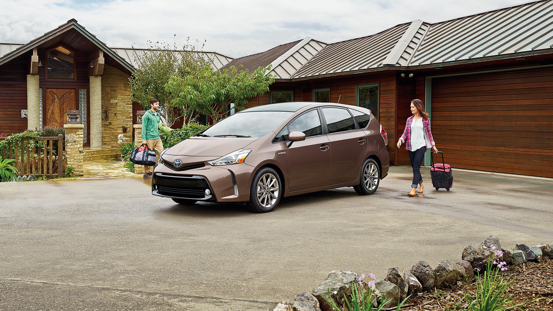 2016 Toyota Prius V parked