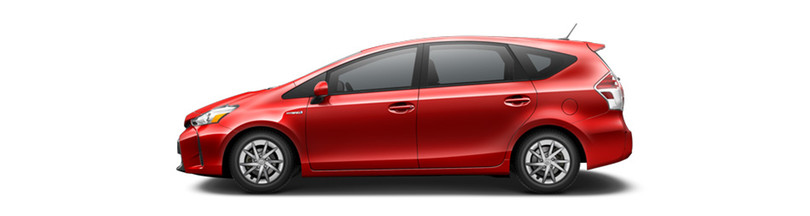 2016 Toyota Prius v Absolutely Red