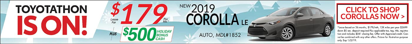 2018 Toyotathon Corolla