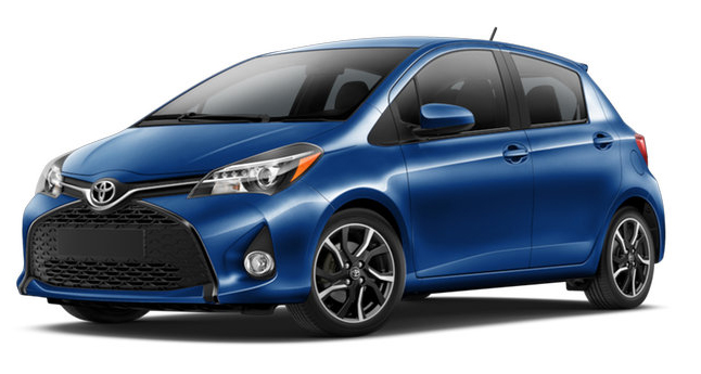 2017 Toyota Yaris Blue Streak Metallic
