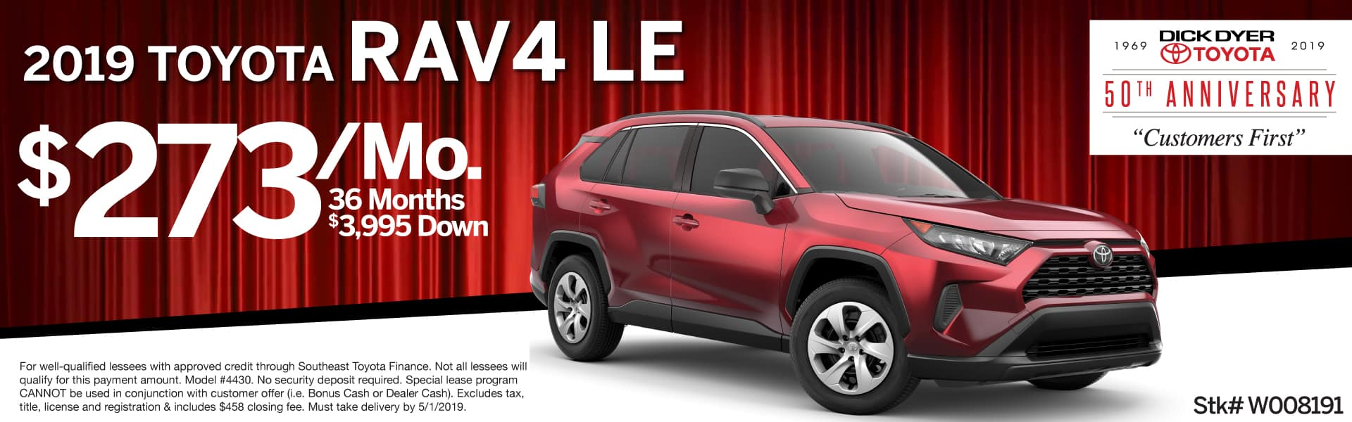 2019 Toyota Rav4 Columbia Lease