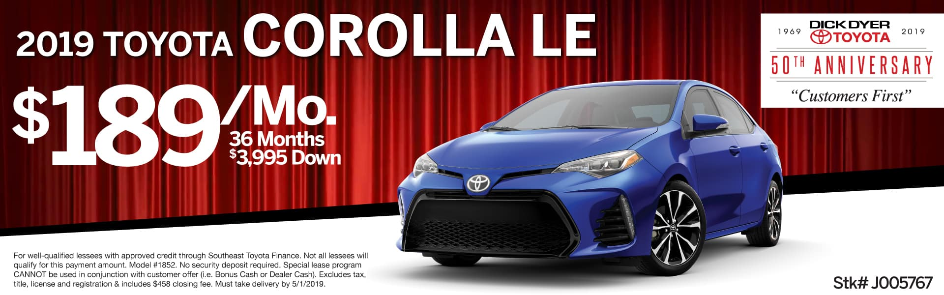 2019 Toyota Corolla Le for Lease Columbia