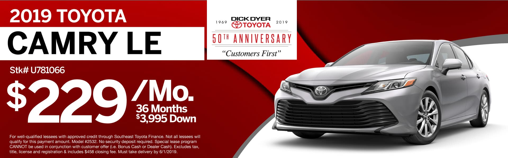 2019 Toyota Camry Sale