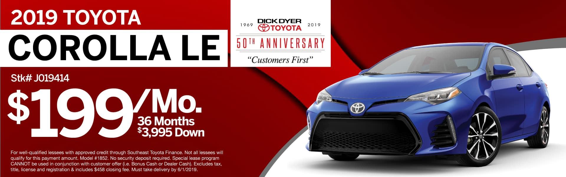 2019 Toyota Corolla Sale