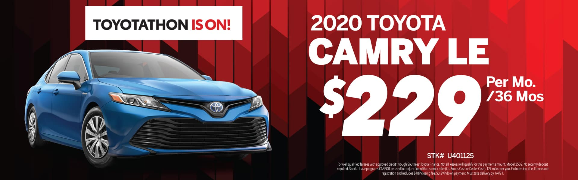 2020 Toyota Camry offer!