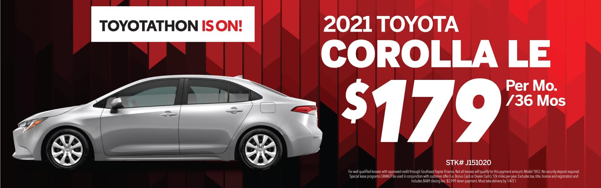 2020 Toyota Corolla Offer